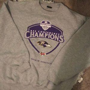 ravens NIKE crew neck sweatshirt
